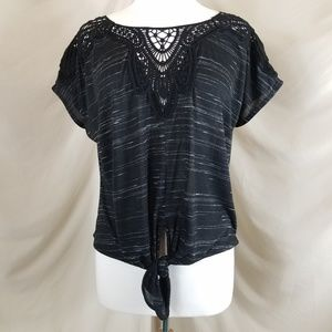 Anthropologie Everleigh Tie Front Top